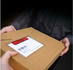 Paklijstenvelop A5 225x165mm met tekst: 'Packing List' 1000 stuks.
