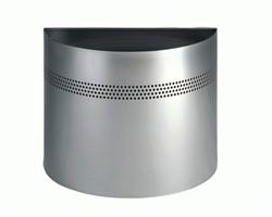 Papierbak Atlanta 331623 metaal halfrond metallic zilver 320x415x210mm perforatierand 30mm. OP=OP!