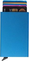 Pasjeshouder Figuretta etui - hardcase in de kleur blauw cap. 6 kaarten.