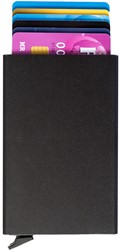 Pasjeshouder Figuretta etui - hardcase in de kleur zwart cap. 6 kaarten.
