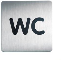 Deurbordje Durable 150x150mm zelfklevend met tekst wc.