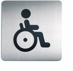 Picto-bordje Durable vierkant 15x15cm edelstaal rolstoel.