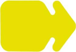 Etalagekarton fluor geel pijlvorm 15x20cm 380 grams pak van 10 vel.