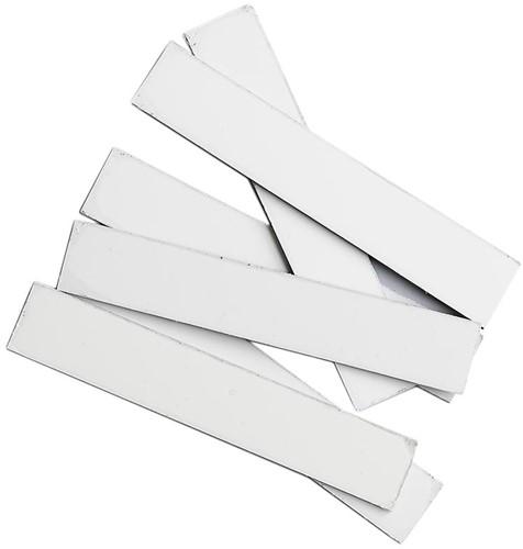 Plaatjes blanco Smit-Visual t.b.v. aan- afwezigbord wit 120x20mm zakje van 10 stuks.