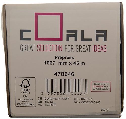 Plotterpapier Coala 1067mm x 45.7meter 90grams mat. (470646).