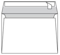 Envelop Conqueror 156x220mm gevergeerd 120 grams 250 stuks zelfklevend rechte klep zonder venster wit katoenhoudend houtvrij ECF.