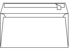 Envelop Conqueror 110x220mm gevergeerd 120 grams 500 stuks zelfklevend rechte klep zonder venster hagelwit katoenhoudend houtvrij ECF.