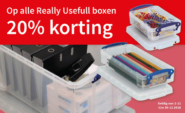 20% Korting op alle Really Useful boxen