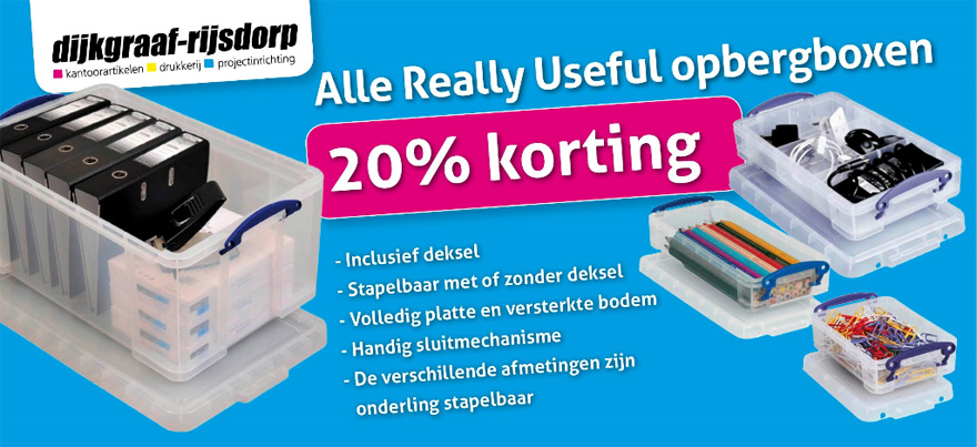Really Usefull Opbergboxen bij Dijkgraaf-Rijsdorp