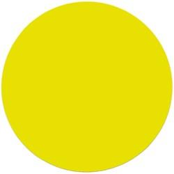 Etalagekarton fluor geel rond 15cm 380 grams pak van 50 vel.