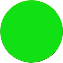 Etalagekarton fluor groen rond 15cm 380 grams pak van 50 vel.