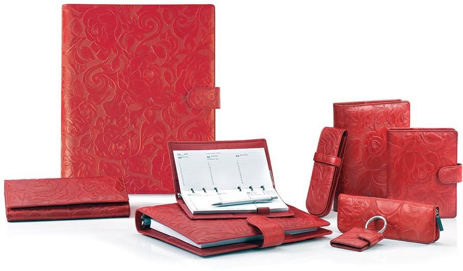 De Kleur Rood : Agenda omslag succes senior model rosa zacht kalfsleer met een