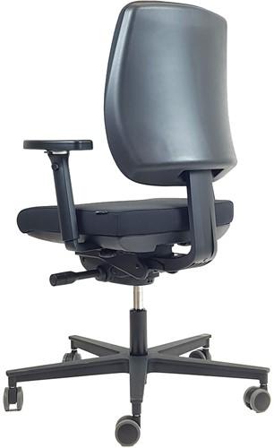 Bureaustoel 'De Dijkgraaf' Rovo in kleur zwart.-2