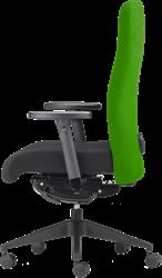Bureaustoel Rovo 4015 rug groen, zitting zwart, voetkruis kunststof zwart.