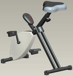 Deskbike Cyclo kleur zwart / wit.