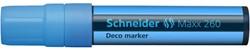 Krijtmarker Schneider deco 260 5-15mm fluor blauw.