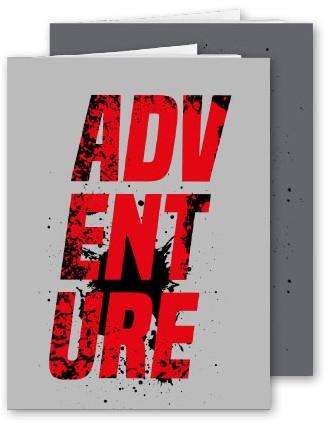 Schrift Adventure A4 10mm geruit papier assorti 2 stuks.