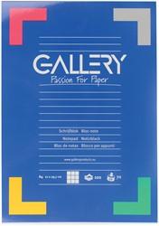 Schrijfblok Gallery A4 - 100 vel 5mm geruit papier.