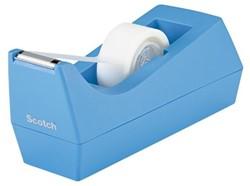 Plakbandhouder Scotch C38 recycled lichtblauw + 1x rol magic tape 19mm x 8,89m.