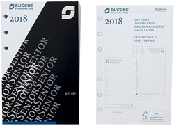 Agenda calendarium 2018 Succes Senior 9,5x15cm 1 dag per pagina 4-talig wit in cellofaan XSQ1.18