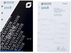 Agenda calendarium 2018 Succes Senior 9,5x15cm 7 dagen per 2 pagina's 4-talig wit in cellofaan XSQ7.18.