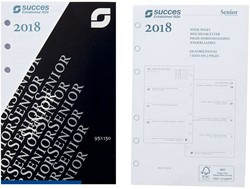 Agenda calendarium 2019 Succes Senior 9,5x15cm 7 dagen per 2 pagina's 4-talig wit in cellofaan XSQ7.19.
