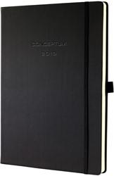 Agenda 2019 Sigel Conceptum 7 dagen per 2 pagina's verticaal A4+ omslag zwart softcover met elastiek sluiting.