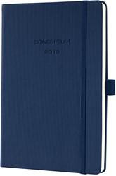Agenda 2019 Sigel Conceptum 7 dagen per 2 pagina's A5 omslag donkerblauw hardcover met elastiek sluiting.