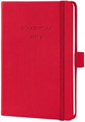 Agenda 2019 Sigel Conceptum 7 dagen per 2 pagina's A6 omslag rood hardcover met elastiek sluiting.