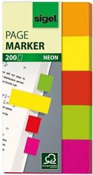 Indexeringsstrookjes Sigel 20x50mm 5 kleuren 5x40 stuks HN-650.