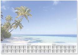 Bureau onderlegblok Sigel Beach 3 jaar 2018-2019-2020 30 vel.