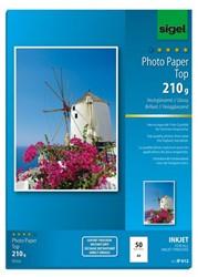 Fotopapier Sigel hoogglanzend A4 210gram 50 vel (SI-IP612).