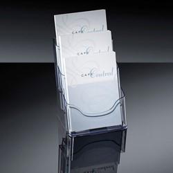Folderhouder Sigel LH132 A5 3-vaks glashelder acryl capaciteit 30mm. Afname per 2 stuks.