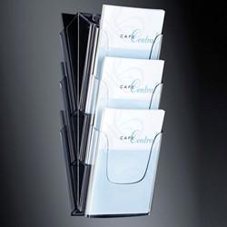 Folderhouder Sigel LH135 3xA4 wand transparant acryl capaciteit 30mm.