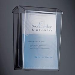 Folderhouder Sigel LH325 A4 staand wandmodel glashelder acryl.