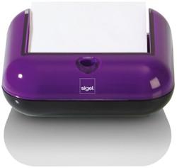 Memokubus Sigel Eye style kunststof violet/zwart incl. 200 vel zelfklevende memoblaadjes 76x76mm.