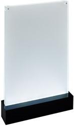 Folderstandaard Sigel TA420 A4 staand recht model met LED verlichting.