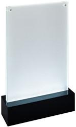 Folderstandaard Sigel TA422 A5 staand recht model met LED verlichting.