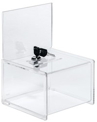 Aktiebox Sigel A6 15x22x15cm transparant afsluitbaar.