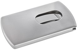 Visitekaarthouderi Sigel VZ120 zilver Snap maximaal 12 kaarten.