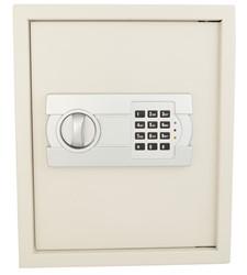 Sleutelkast Protector Key 24 E signaalwit met electronisch cijferslot en voorzien van 24 haken.