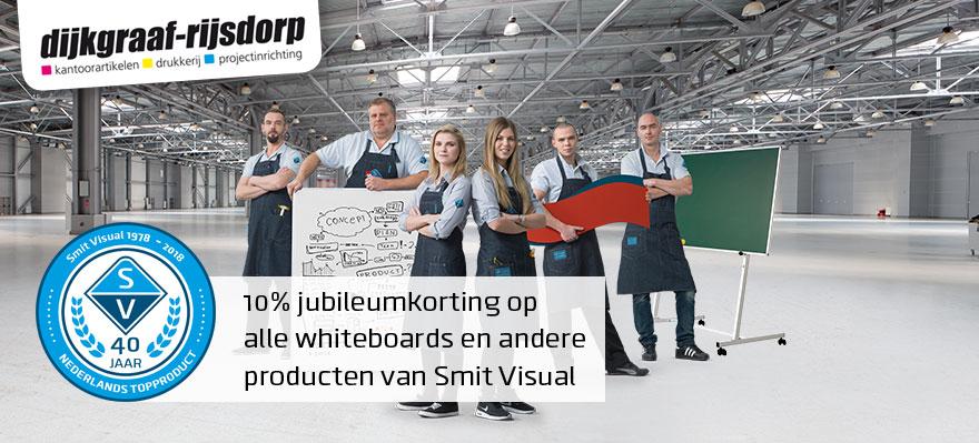 Smit Visual 10% jubileumkorting op alle Smit Visual producten