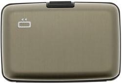 Pasjeshouder Ogon model Stockholm in de kleur Dark grey cap. 12 kaarten.