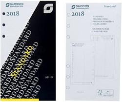 Agenda calendarium 2018 Succes Standard 9,5x17,1cm 1 dag per pagina 4-talig wit in cellofaan XTQ1.18.