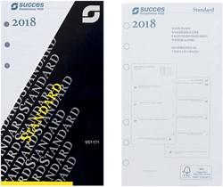 Agenda calendarium 2018 Succes Standard 9,5x17,1cm 7 dagen per 2 pagina's 4-talig wit in cellofaan XTQ7.18.