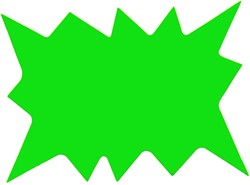 Etalagekarton fluor groen stervorm 15x20cm 380 grams pak van 10 vel.