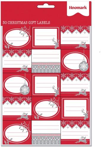 Kerst Cadeaulabels Stickervel Met 30 Stickers