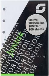 Notitiepapier Succes junior 80x125mm blanco wit 100 vel XJ52.