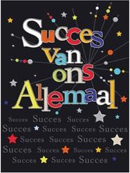 Wenskaart + envelop Artige collectie Maximaal formaat A4 opdruk: Succes van ons allemaal AT2017.