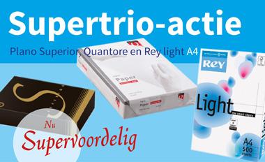 Actie Supertrio papier op dijkgraaf.nl